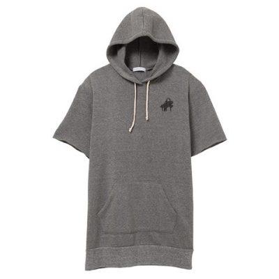 hooded-shortsleeve-sweatshirt-gray-black